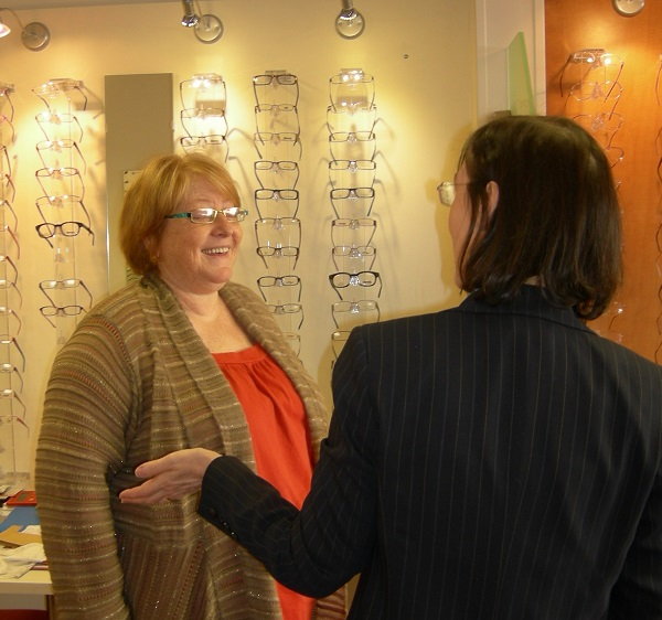 There is a wide selection of spectacle frames at Robin Hall Opticians