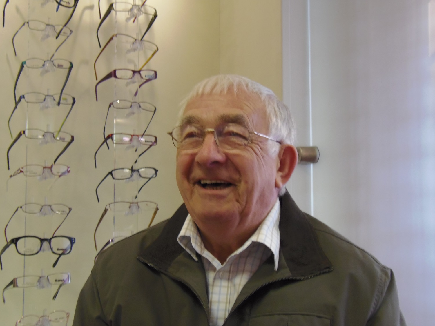 A happy customer: Your eyes are important to us at Robin Hall Opticians